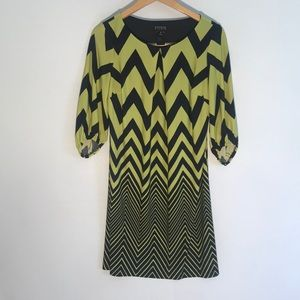 Encore zig zag pattern dress